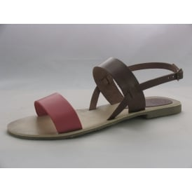 CONTRAST STRAP WOMENS OPEN-TOE SANDALS