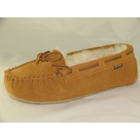 DAISY WOMENS MOCCASIN FULL SLIPPERS