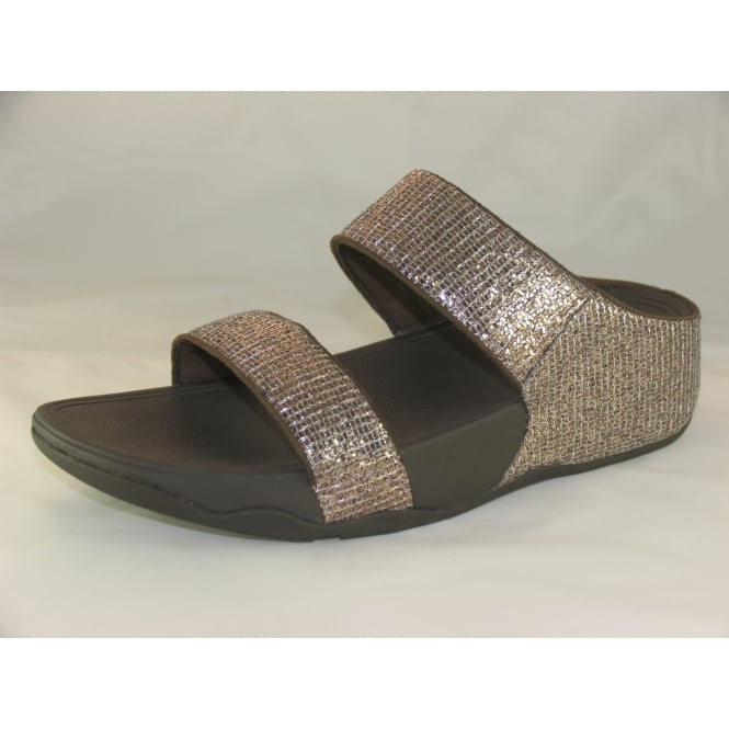 Fit Flop LULU SUPERGLITZ SLIDE OPEN-TOE SANDALS