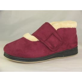 SILENT WOMENS VELCRO BOOTEE SLIPPERS