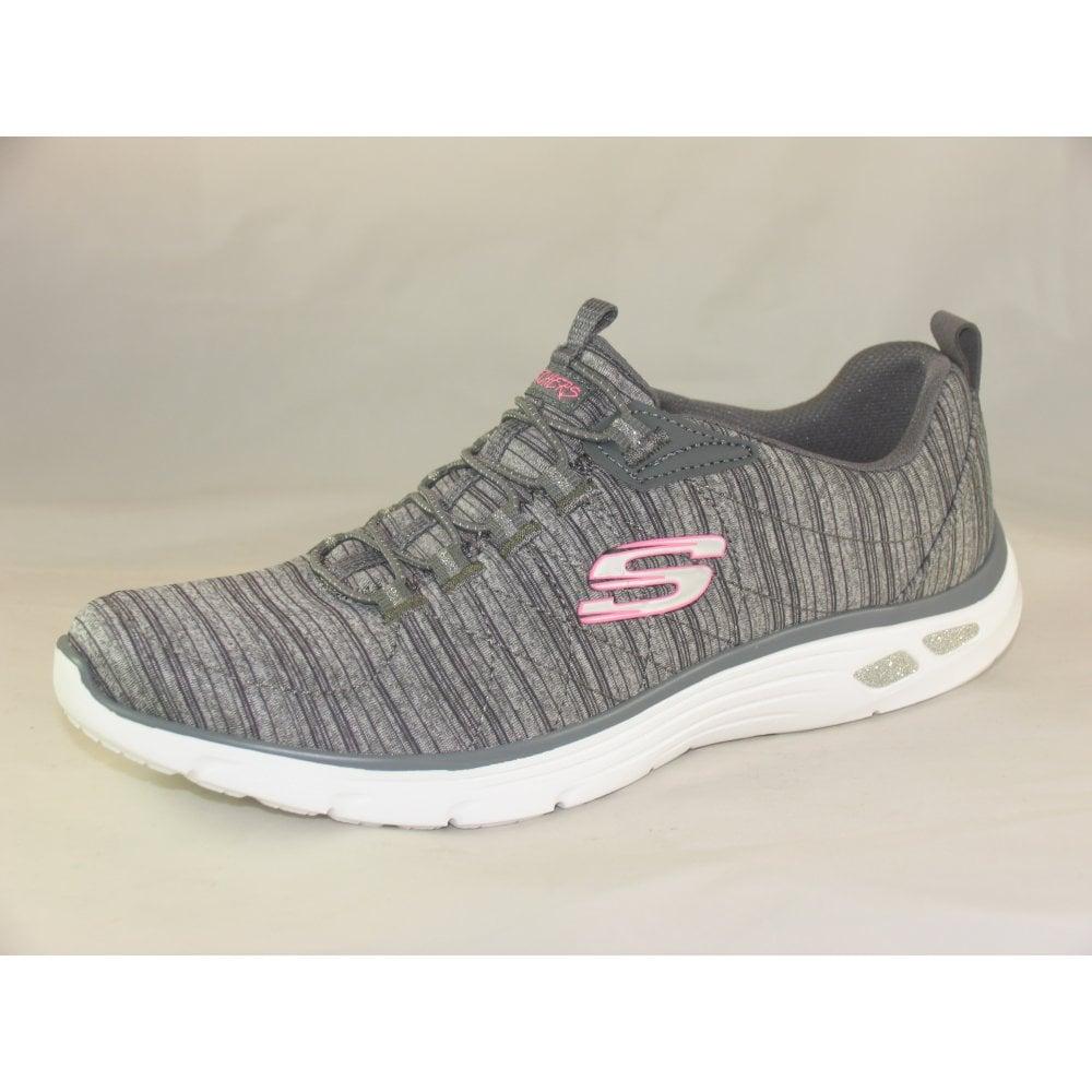 skechers slip on womens trainers