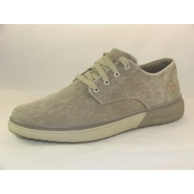 65371 MENS CASUAL CANVAS LACE UP SHOES