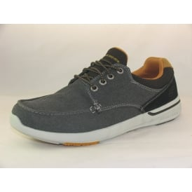 65493 MENS CASUAL CANVAS LACE UP SHOES